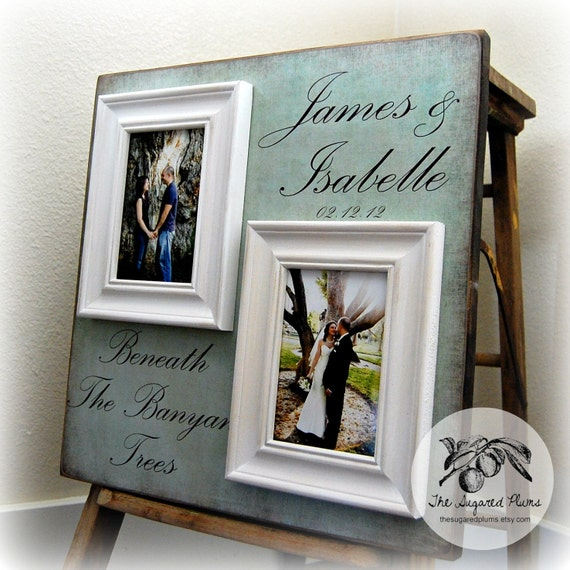 Wedding Gifts Picture Frames : Picture Frame Wedding Gift Custom 16x16 BENEATH The BANYAN TREES ...