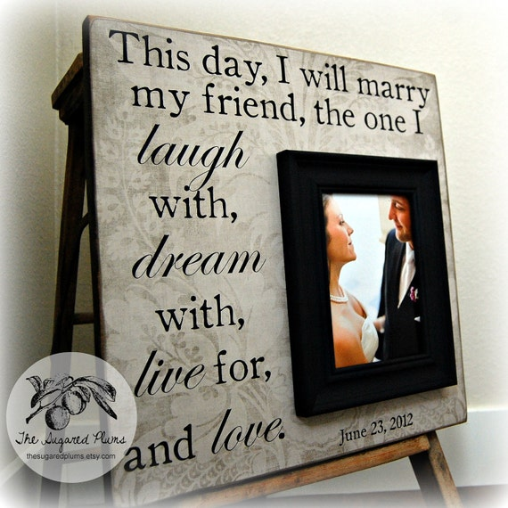 Wedding Gifts For Parents Who Have Everything : Wedding Gift, Personalized Picture Frame, Gifts for Bride, Parents ...