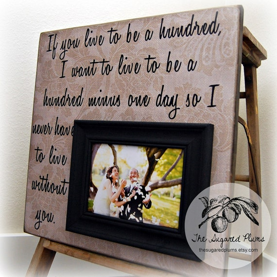 Personalized Wedding Gifts For The Couple : Personalized Picture Frame, Wedding Gift, Anniversary Gift, If You ...