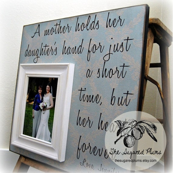 Thank You Wedding Gifts For Mum : Mother of the Bride Gift, Mother of the Bride Frame, Wedding Thank You ...