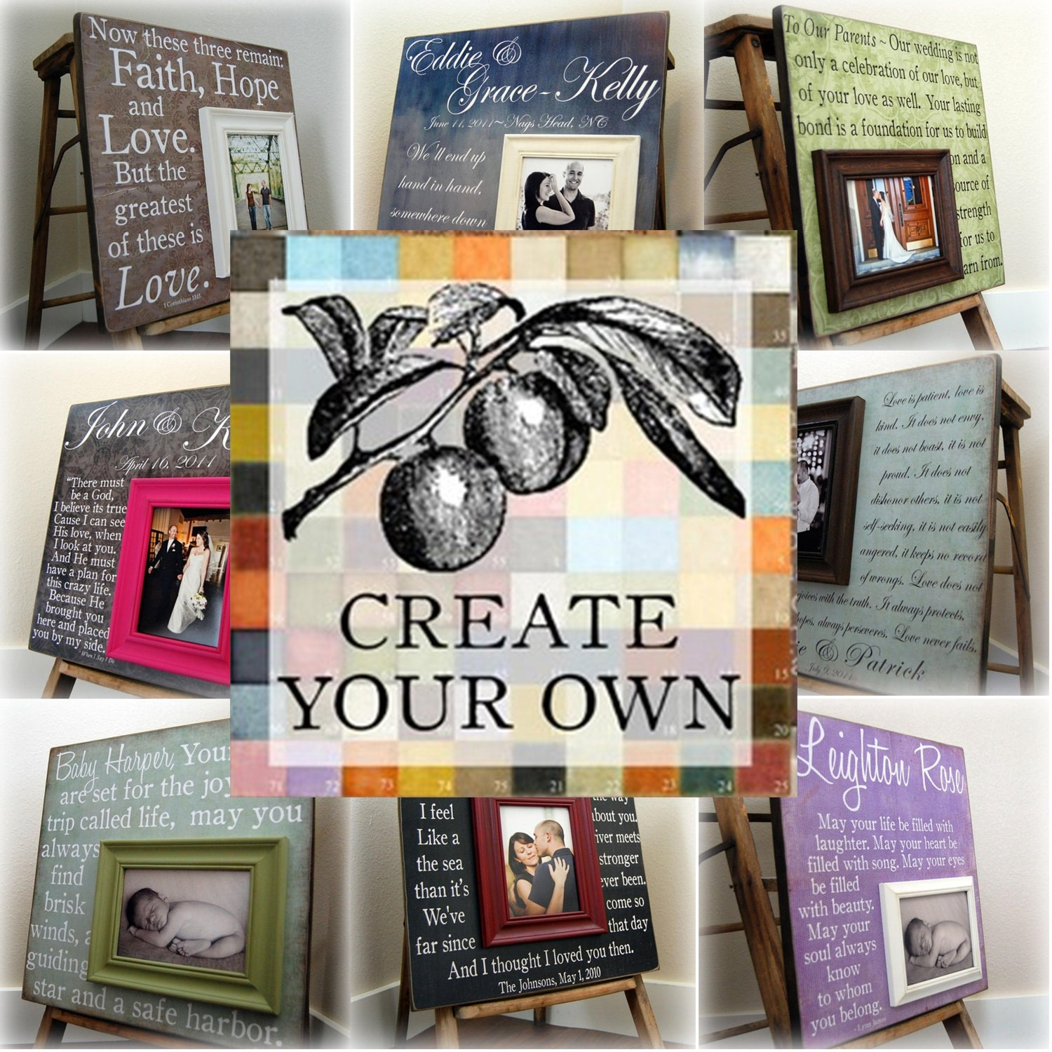 Create your own 16x16 personalized picture frame wedding zoom jeuxipadfo Choice Image