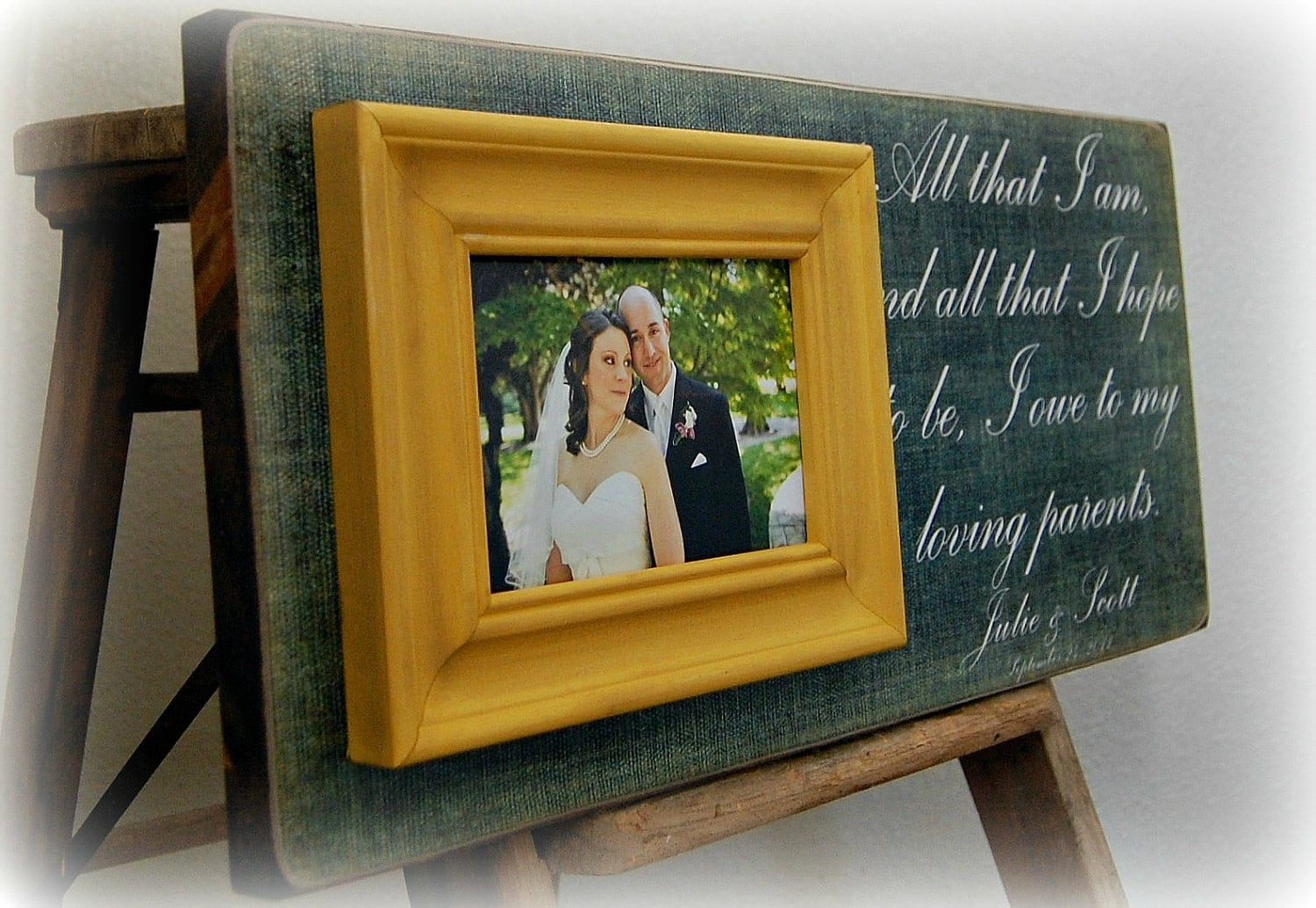 Wedding Gifts For Parents Photo Frames : Wedding Gifts For Parents Personalized Picture Frame Custom