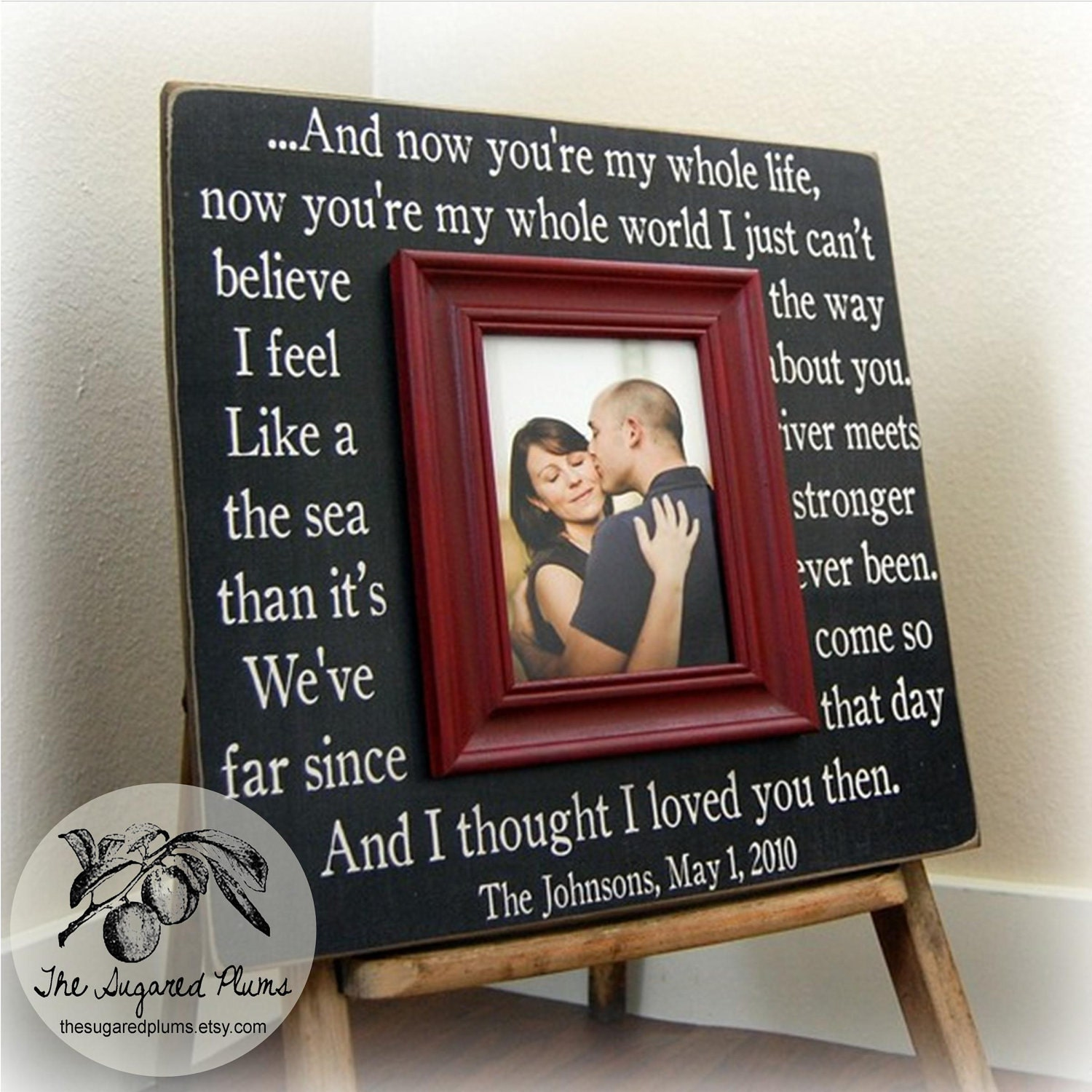 Wedding Gift Personalized Picture Frame : Wedding Gift Custom Wedding Frame Unique Wedding Gift