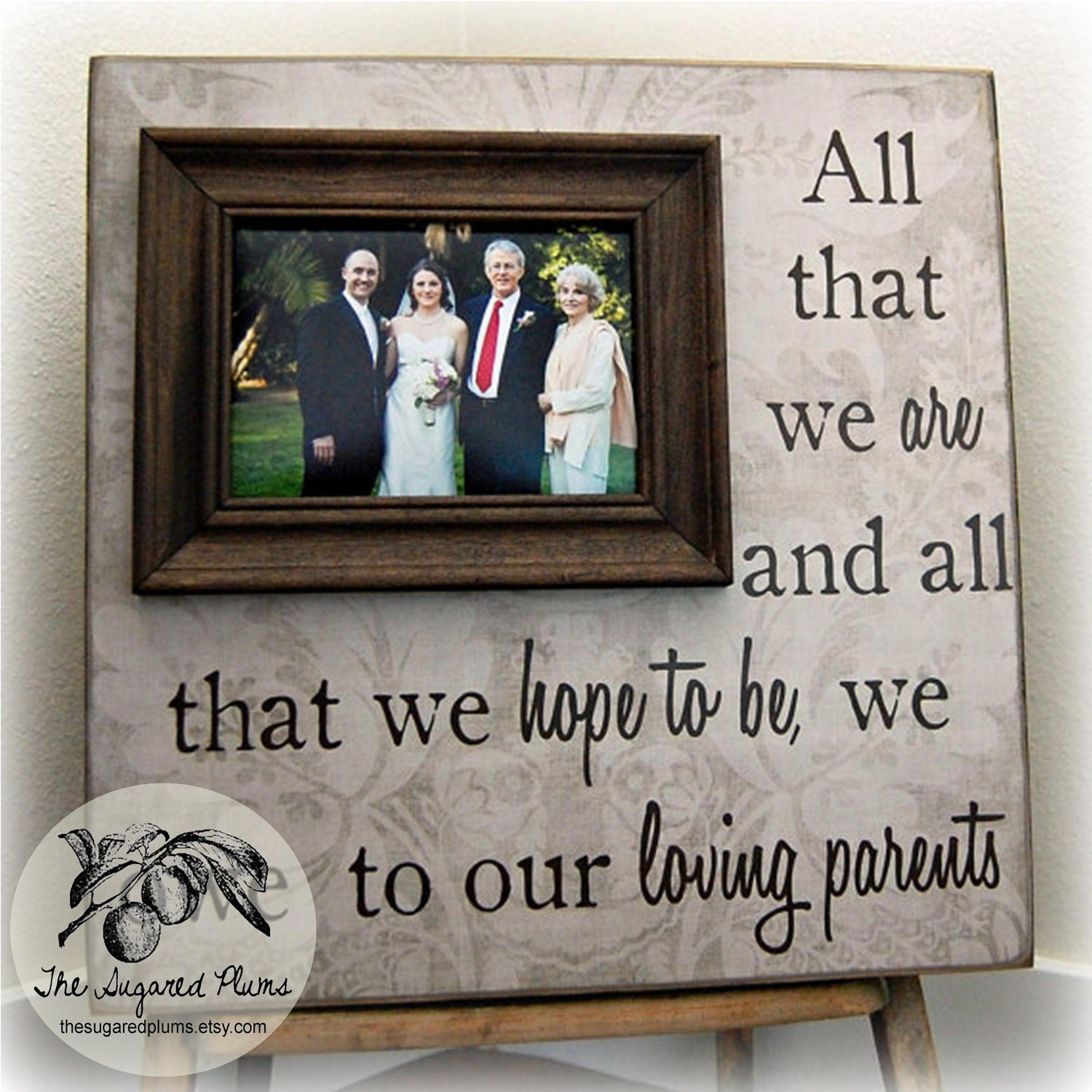 Gifts For Parents Wedding Thank You: Thank You Gift For Parents Wedding Thank You Parents Thank
