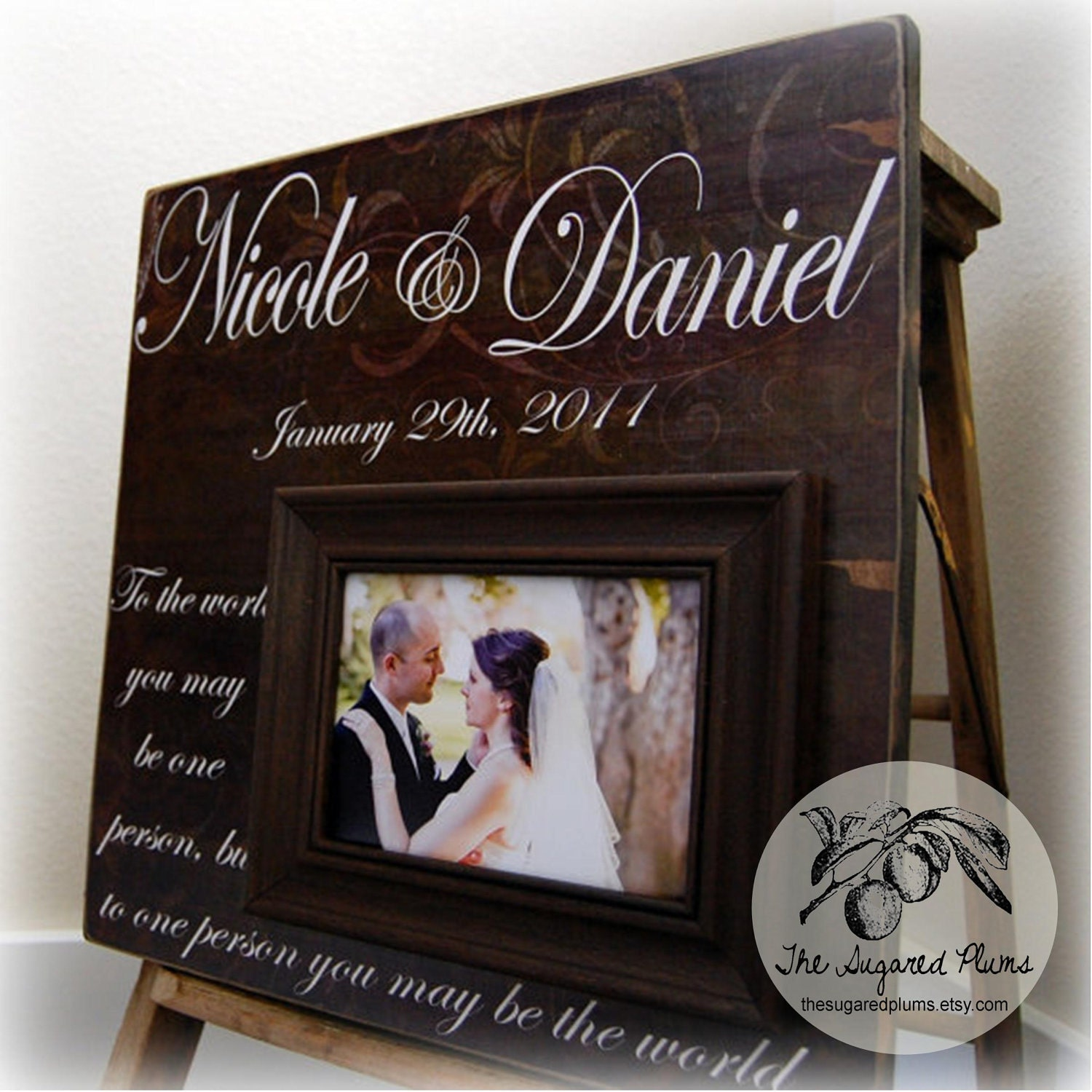 Anniversary Gift Picture Frame Personalized Wedding Gift