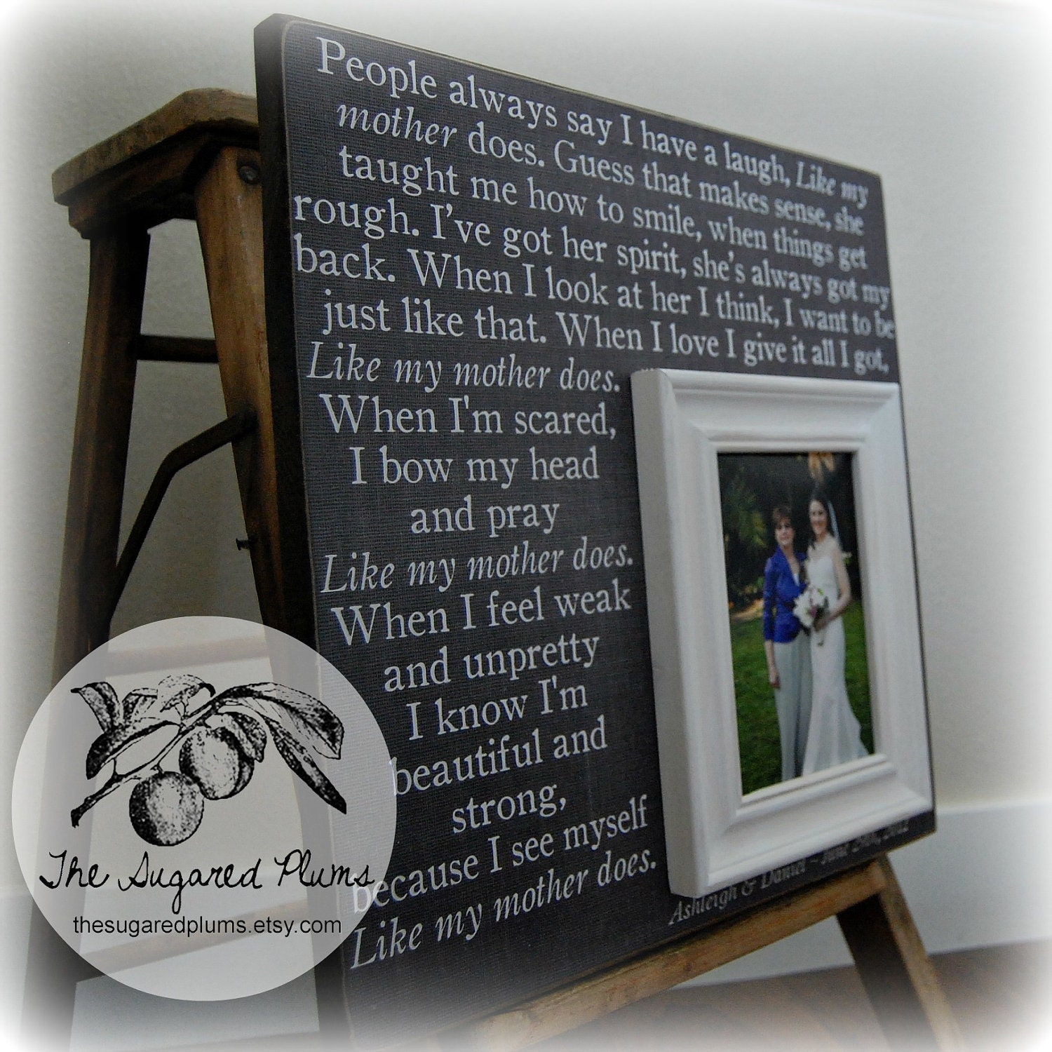 Wedding Gifts For Mom From Bride : Mother Of The Bride Gift Personalized Picture Frame Wedding