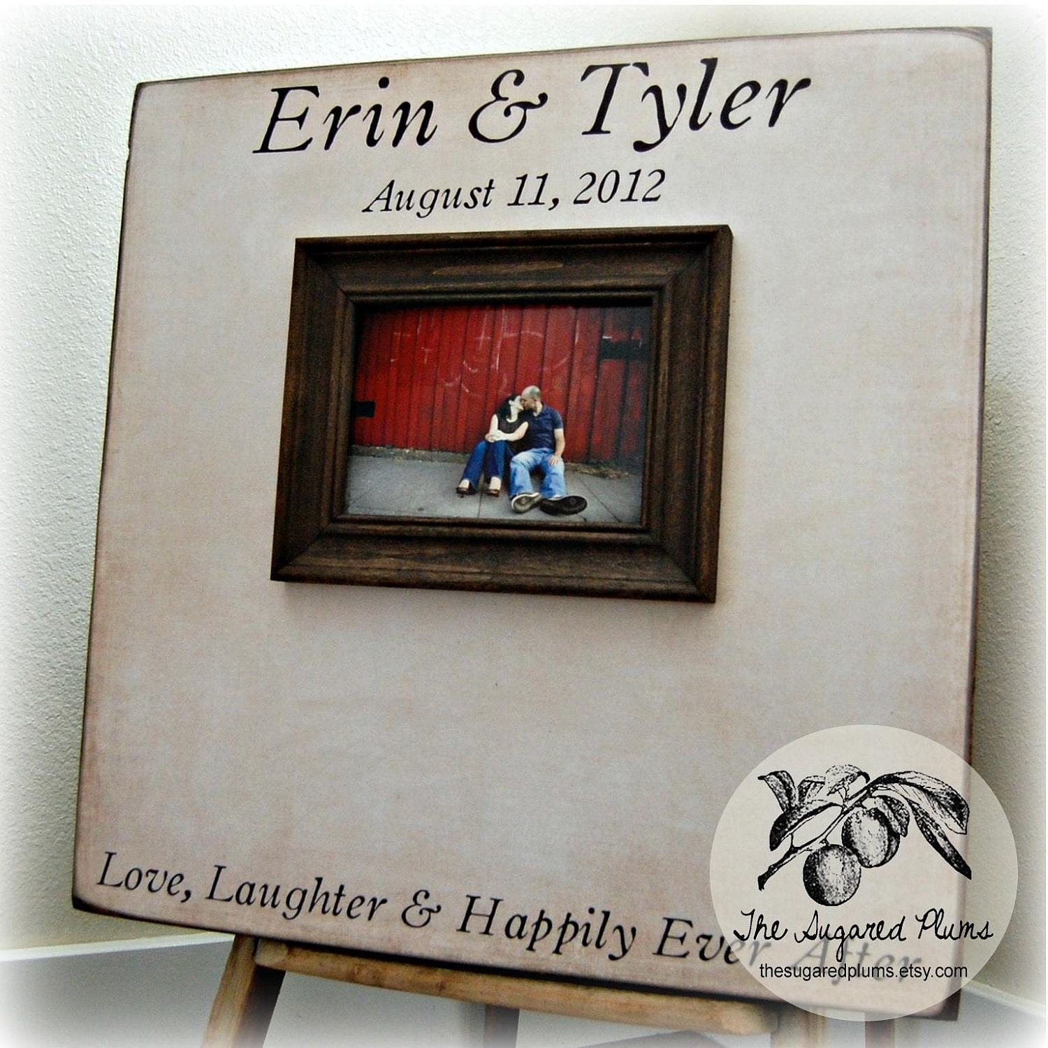 Personalized Wedding Photo Frames Uk : Guest Book Wedding Personalized Picture Frame by thesugaredplums