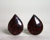 sparkly blood droplet post earrings - twilight true blood studs