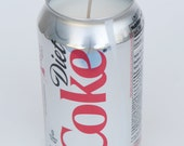 100% soy candle diet coke coca-cola soda can candle 12 oz