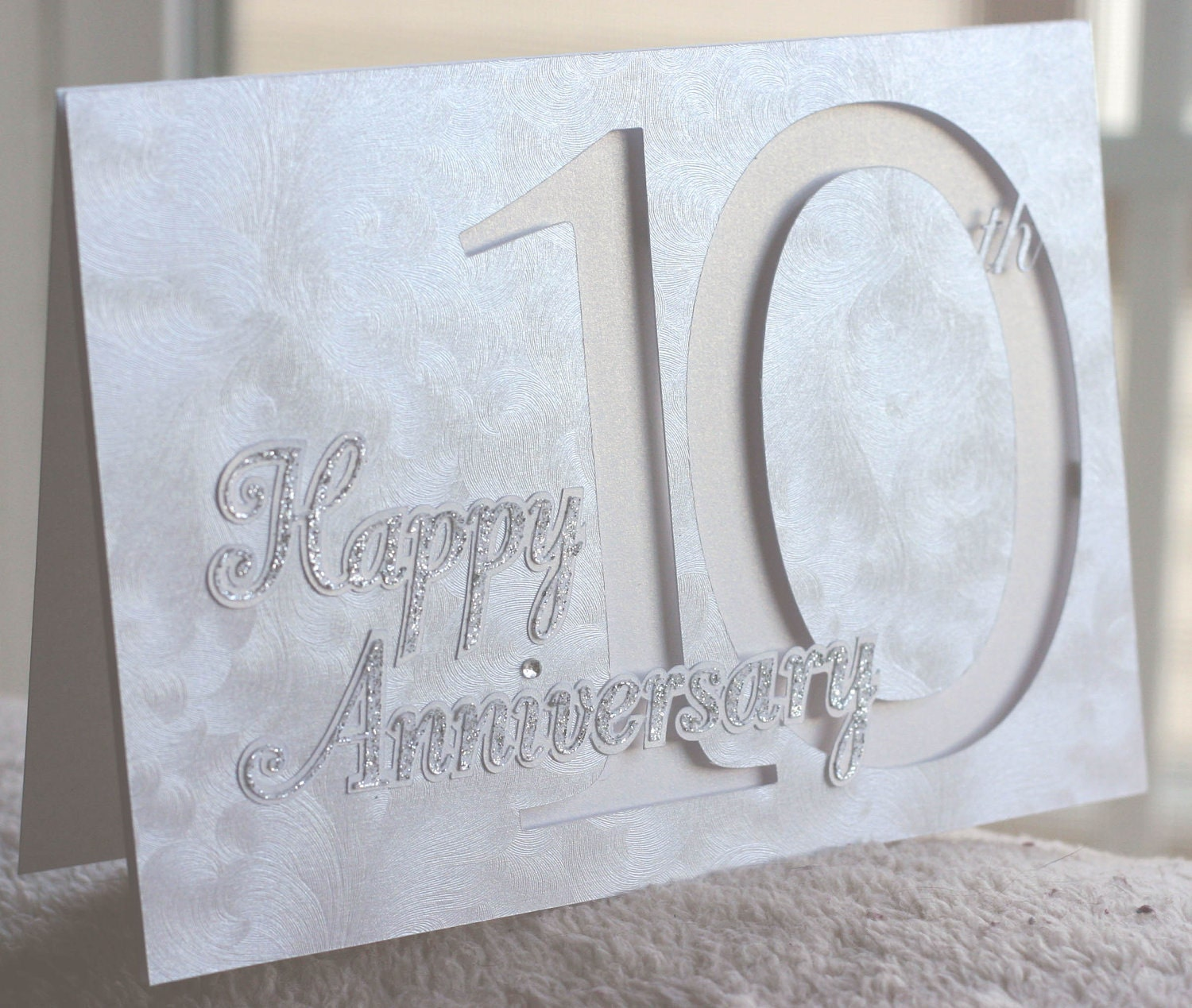Happy 10th Anniversary Card Custom Year Available