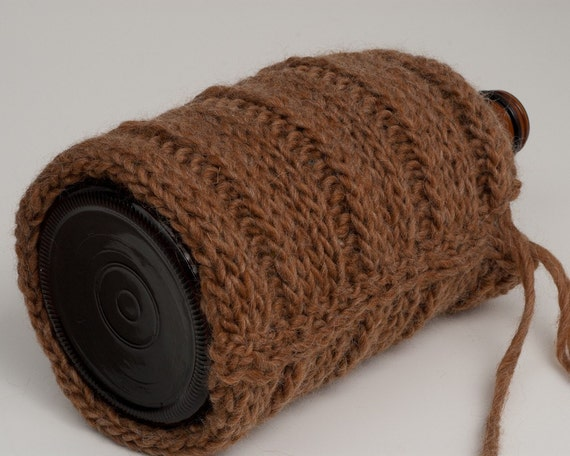 Beer Growler Cozy in Paper Bag Brown