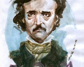 Happy birthday, Edgar Allan Poe - original artwork