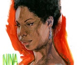 Happy birthday, Nina Simone - original artwork