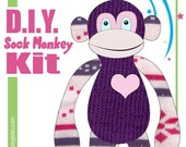 Sock Monkey D.I.Y. Kit  No. 518 - Small - 10-12 inches