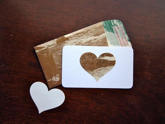 Mini Sepia Valentines