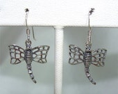DRAGONFLY Sterling Silver EARRINGS on French Wire