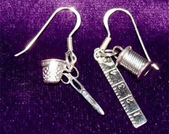 SEWING Earrings For QUILTER To FASHION Designers in Sterling