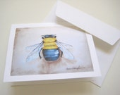 Bumble Bee Note Cards - Set of 10 Note Cards with Envelopes