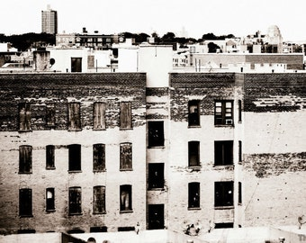 Neglected NYC Bronx Buildings Photography Print, New York City Buildings, NYC Print