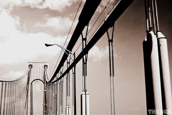 New York City Through the Verrazano Bridge Photography Print, NYC Wall Art