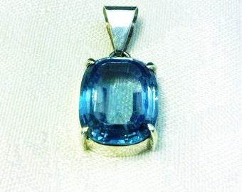 True Blue - Swiss Blue Topaz Pendant