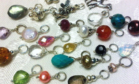 Interchangeable Gemstone, Birth Stone or Charm for Your Hoops or Necklace