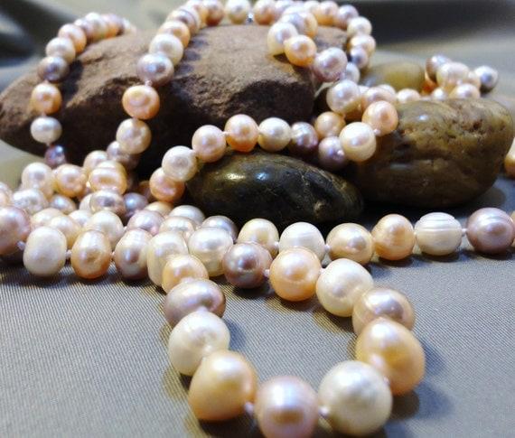 Natural Color Pearls Opera Length