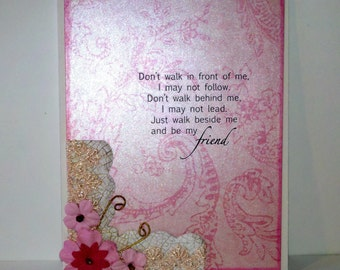 Be My Friend Poem Greeting Card