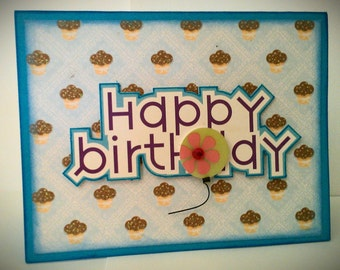 HAPPY BIRTHDAY 3D handmade greeting card