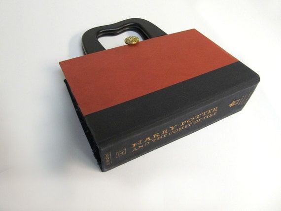 Book Purse made from Harry Potter recycled book cover