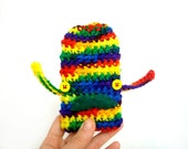 ON SALE Now 28 was 34 - mustachioed iPhone Case - rainbow crocheted - gadget electronic - Ready Handmade by dslookkin on Etsy