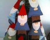 Felt  Garden Gnome Ornament--Treasury Item