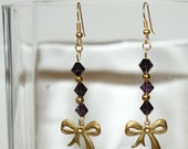 Brass Bow Earrings