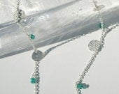 Long Silver with Green Necklace