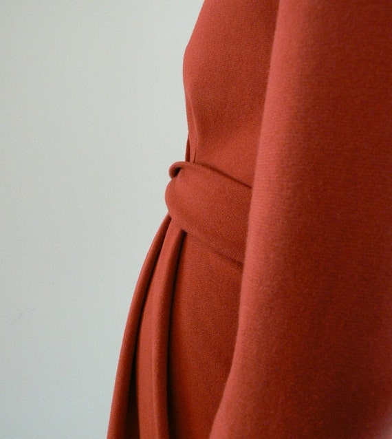 Maternity Dress, Carmin Red. Sale Half price. Perfect for breast feeding.