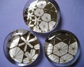 Flowers and Hexagons Magnets - Set of 3
