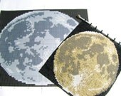 Pattern--Moon Beaded Tapestry for Square Stitch