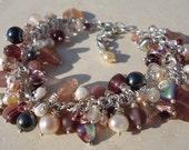 Berry Inspired Silver Charm Bracelet