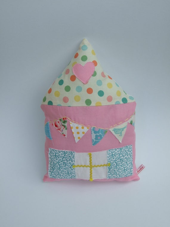 House Softie Pillow Spring Cottage