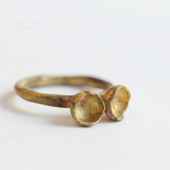 Brass Organic Bowl Ring T15