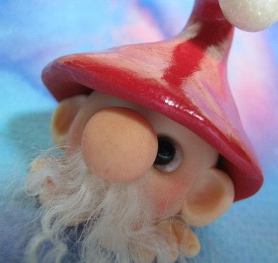 SALE Narq Magical Sussex Gnome OOAK SCULPT by Artist Ann Galvin Christmas