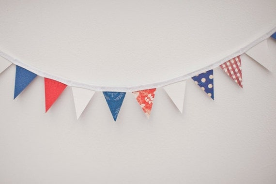 Mini Bunting - Red White & Blue Jubilee, Olympics, 4th July