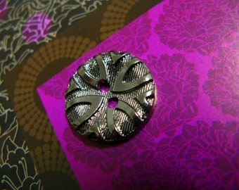 Metal Buttons - Pointed Arches Metal Buttons , Pewter Color , 2 Holes , 0.71 inch , 10 pcs