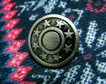 Star Decorative Border Gunmetal Buttons. 0.79 inch. 10 in a set