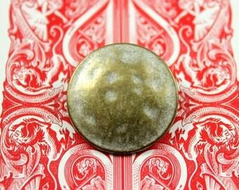 Metal Buttons - Retro Brass Metal Buttons , Shank , 0.71 inch , 10 pcs