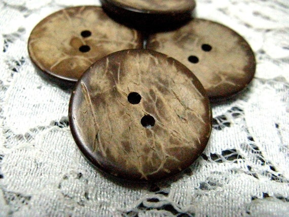 Wooden Buttons - Nostalgic 80s Yellowing Nature Texture Wooden Buttons,0.91 inch. 10 in a set