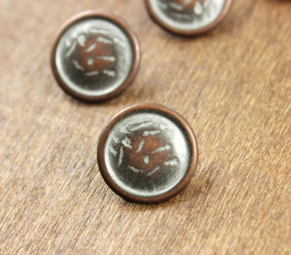 Metal Buttons -10 Pieces Of Special Silver Rendering Retro Copper Bronze Buttons, 0.59 inch