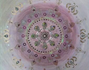 ON SALE - Tomorrow never knows - Original Painting Mandala