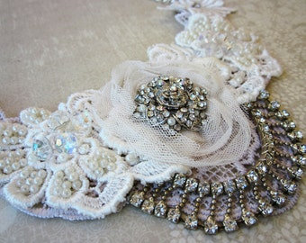 Ivory/Silver Bridal Necklace
