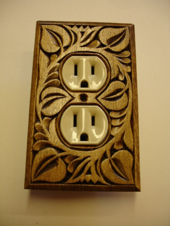 Decorative Wall Plates For Electrical Outlets : Wall decor single electric outlet cover plate by